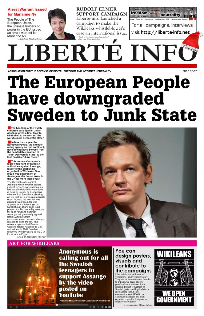 Sweden downgraded to Junk State