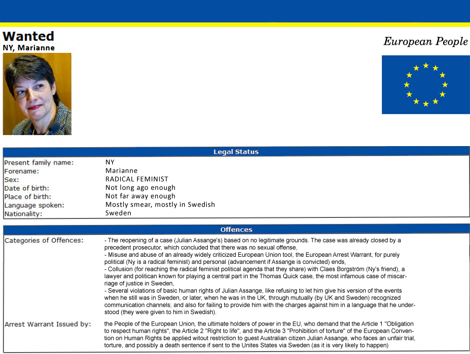 European People's Arrest Warrant against Marianne Ny